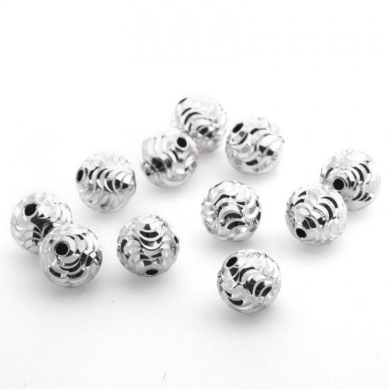 Combo 3 hạt charm bạc xi bạch kim