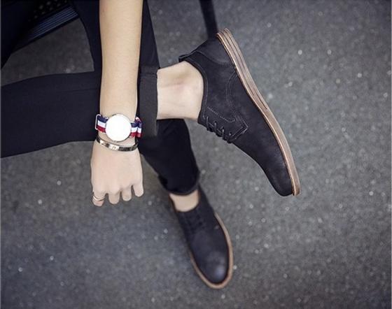Giày da dây cột nam Passo G110