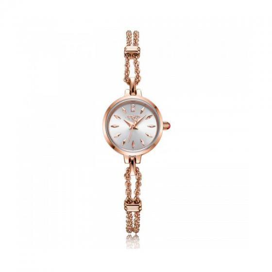 Đồng hồ nữ Julius Star Hàn Quốc JA-019C dây thép đồng mặt trắng