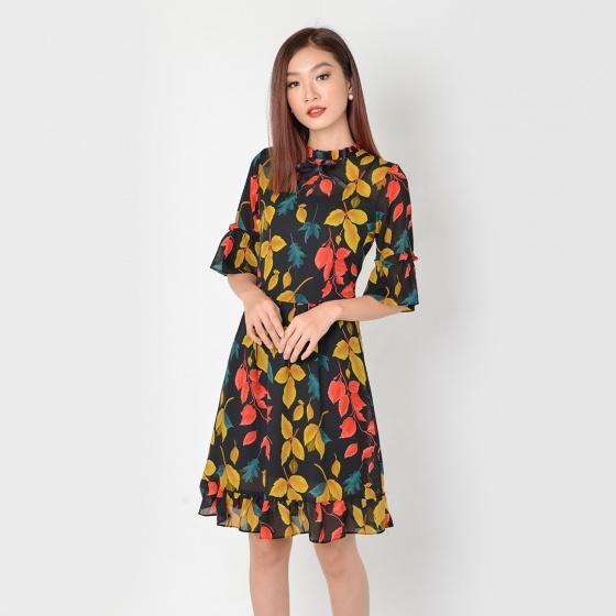 Đầm công sở thời trang Eden tay lỡ (đen) - D325