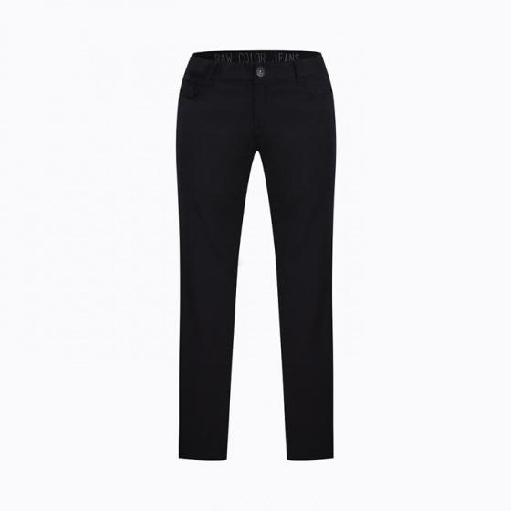 Quần jean nữ dài trơn màu đen Hàn Quốc Orange Factory UEP9L348 WSB 26