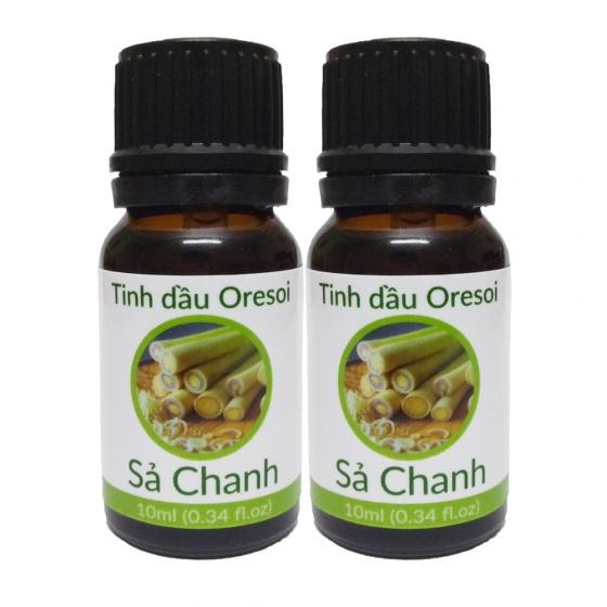 Combo 2 lọ tinh dầu sả chanh hữu cơ Oresoi 10ml - Lemongrass Essential Oil