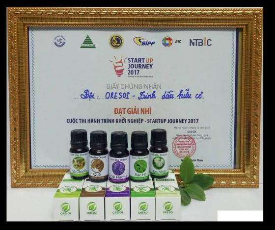 Combo Kit 5 lọ tinh dầu hữu cơ Oresoi nguyên chất với 5 loại hương thơm quyến rũ