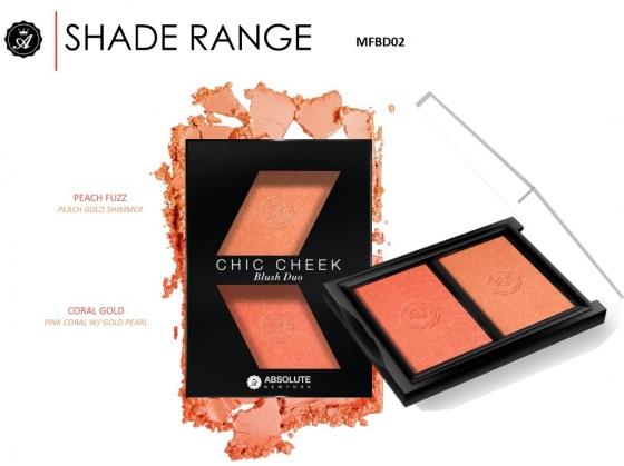 MFBD02 - Má hồng chic cheek blush duo peach fuzz coral gold