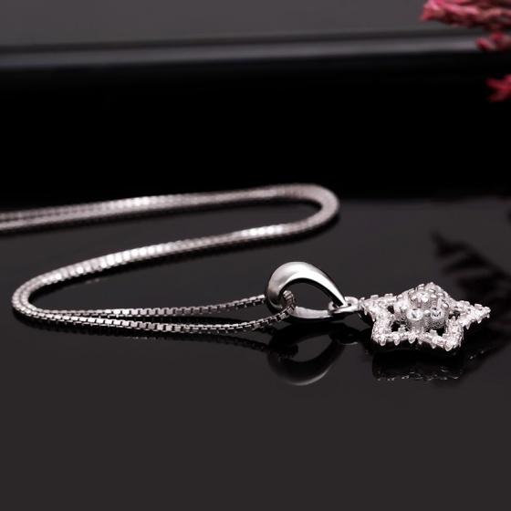 Mặt dây chuyền bạc Luxury Star
