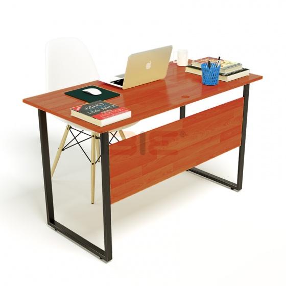 Bộ bàn Rec-F Plus chân đen mặt cánh gián và ghế Eames trắng chân gỗ