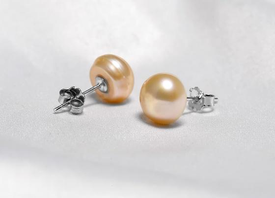Bông tai bạc ngọc trai Glo 9-9.5mm