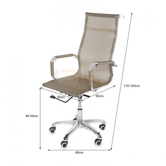 Ghế lưới IB803 chân hợp kim nhôm cao cấp màu đồng