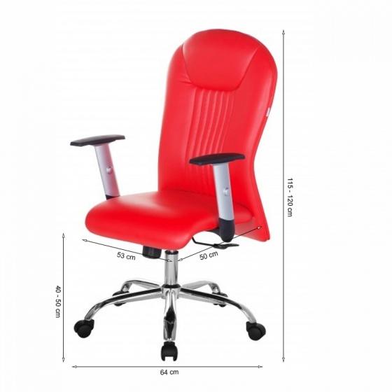 Ghế trưởng phòng IB342 tay điều chỉnh chân thép mạ cao cấp màu đỏ