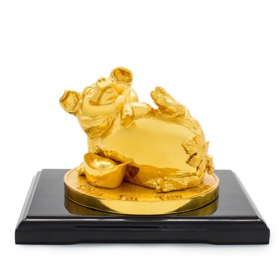 Quà tặng Tết cho đối tác: Tượng heo vàng chiêu tài tấn bảo