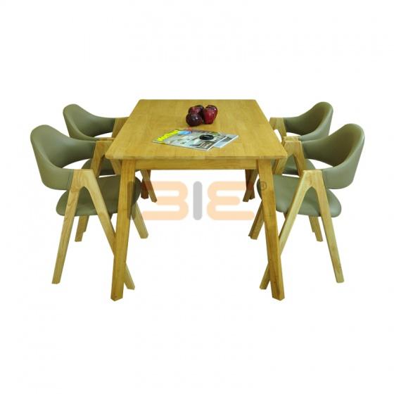 Bộ bàn ăn Emma màu tự nhiên 4 ghế
