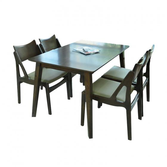 Bộ bàn ăn Osaka màu walnut 4 ghế