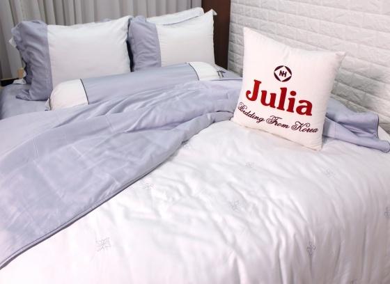 Bộ chăn ga gối lụa tencel tơ tằm Hàn Quốc Julia siêu mát mịn (bộ 5 món có chăn chần) 854