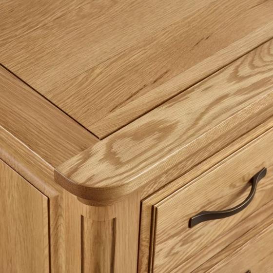 Tủ chén thấp Canterbury loại lớn gỗ sồi