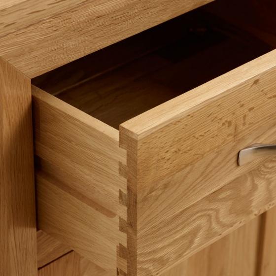 Tủ chén cao Bevel lớn gỗ sồi