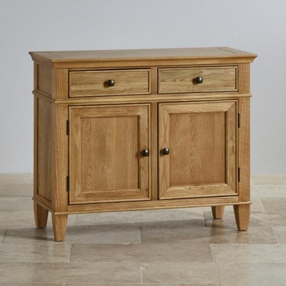 Tủ chén thấp Classic nhỏ gỗ sồi