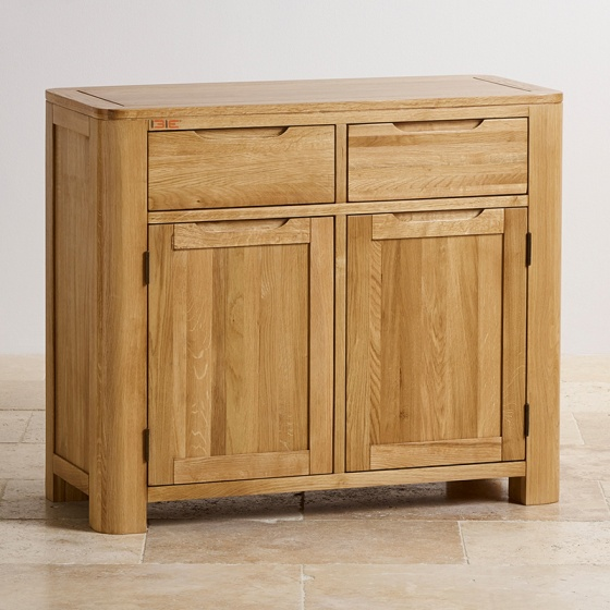 Tủ chén thấp Romsey nhỏ gỗ sồi