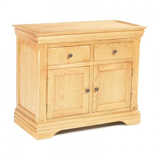 Tủ chén thấp 2 cánh 2 ngăn Victoria gỗ sồi 80cm