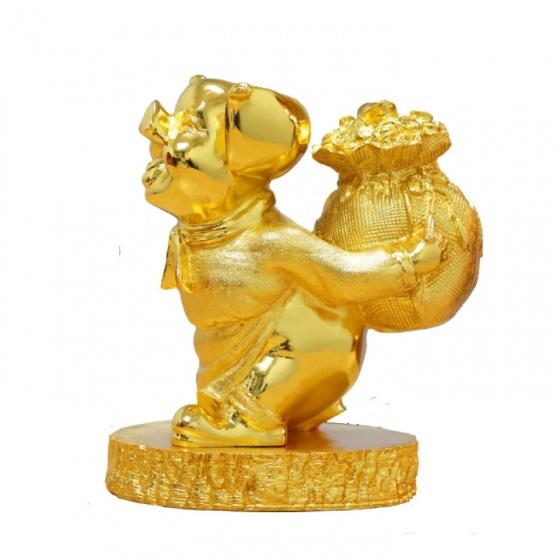 Quà Tết tặng doanh nghiệp: Tượng heo vàng đại cát mạ vàng – THDC