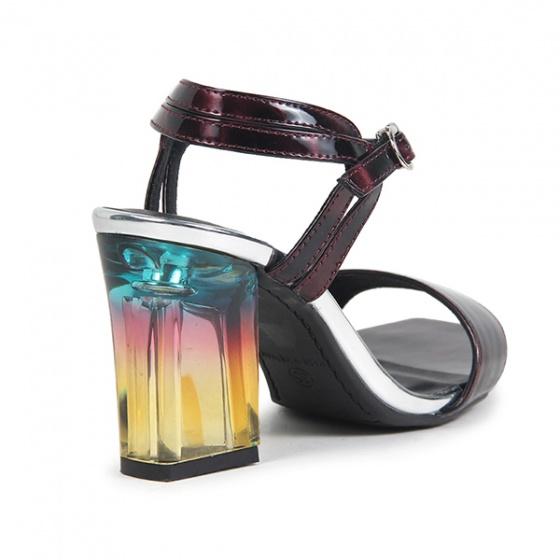 Nados luxury sandal bít hậu s07013 đỏ wash
