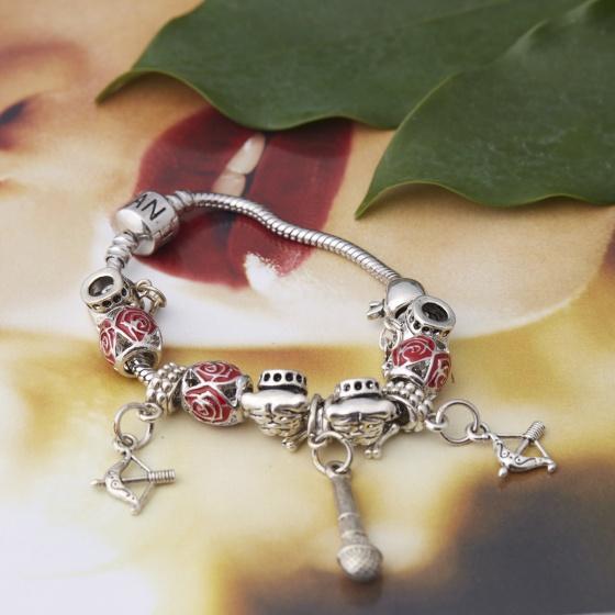 Opal - Vòng tay charm cá tính tặng kèm dây chuyền bạc mặt charm 250.000đ_T12