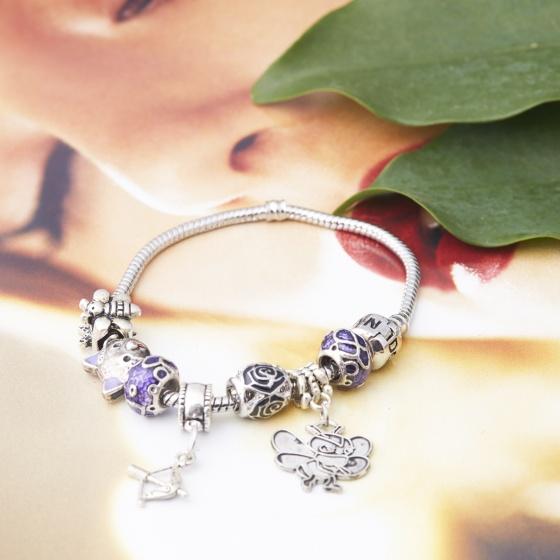 Opal - Vòng tay hợp kim charm tinh tế tặng kèm một dây chuyền bạc cao cấp 250.000đ_ T12