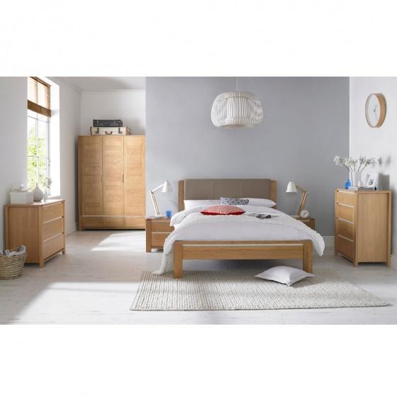 Giường bọc nệm Casa gỗ sồi 1m6