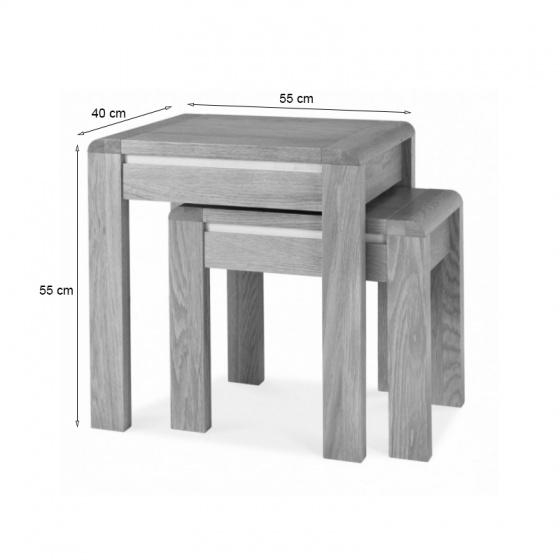 Bộ bàn xếp lồng Casa gỗ sồi