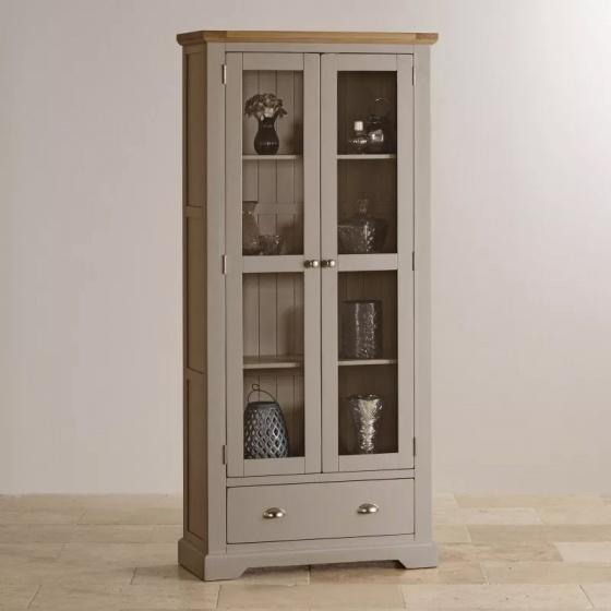 Tủ trưng bày 2 cánh kính St.Ives gỗ sồi