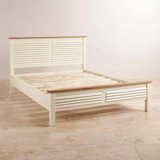 Giường đôi Shutter gỗ sồi 2m0