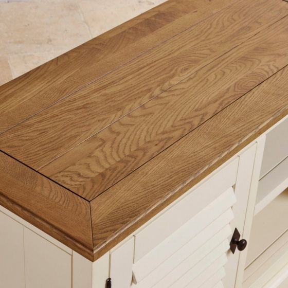 Tủ tivi 1 cánh Shutter gỗ sồi