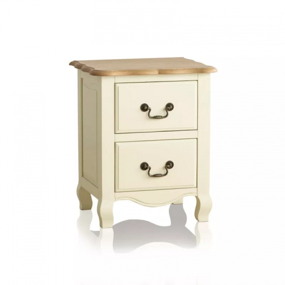 Tủ đầu giường 2 ngăn kéo Bella gỗ sồi