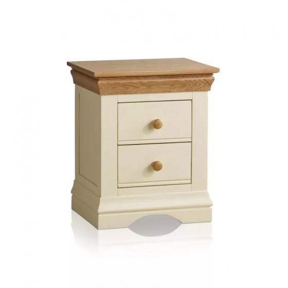 Tủ đầu giường 2 ngăn kéo Country Cottage gỗ sồi - IBIE