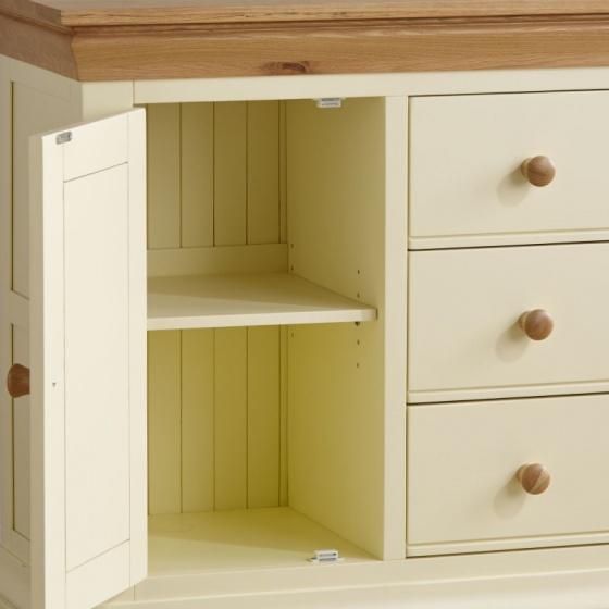 Tủ trữ đồ 3 ngăn Country Cottage gỗ sồi - IBIE