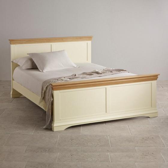 Giường đôi Country Cottage gỗ sồi 1m8