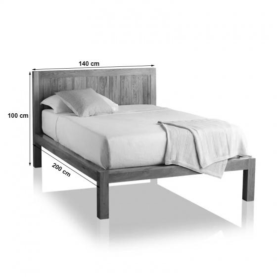 Giường đôi Alto gỗ sồi 2m0