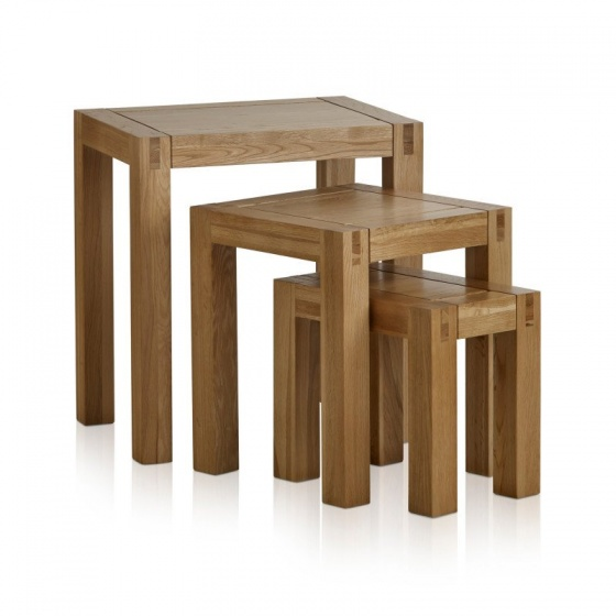 Bộ bàn xếp lồng Alto gỗ sồi - IBIE