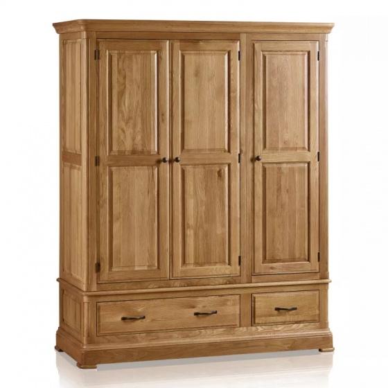 Tủ quần áo 3 cánh Canterbury gỗ sồi 1m6