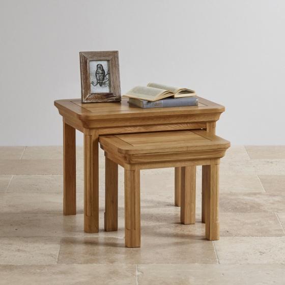 Bộ bàn xếp lồng Canterbury gỗ sồi - IBIE