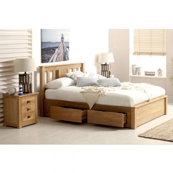 Giường đôi Wimbledon gỗ sồi 1m4
