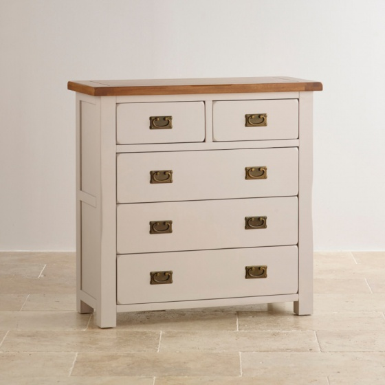 Tủ ngăn kéo 3+2 Kemble gỗ sồi - IBIE