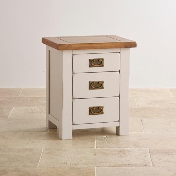 Tủ đầu giường 3 ngăn kéo Kemble gỗ sồi - IBIE