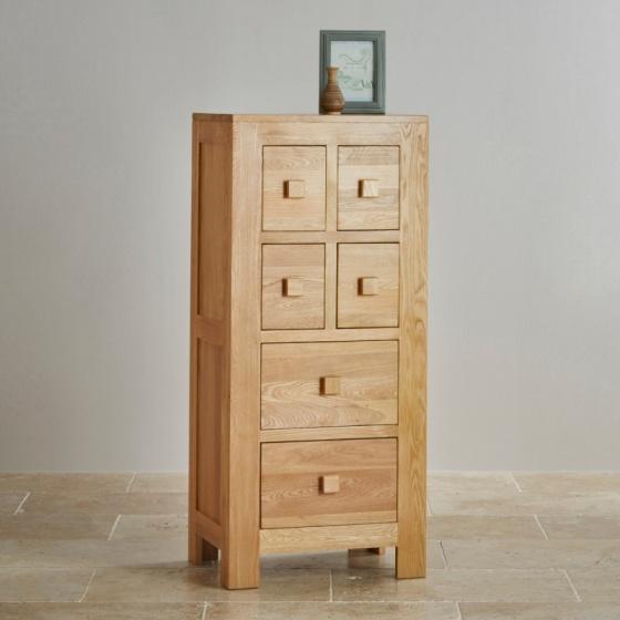 Tủ 6 ngăn kéo Oakdale gỗ sồi