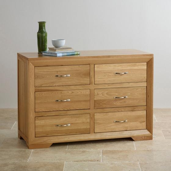 Tủ 6 ngăn kéo Bevel gỗ sồi - IBIE