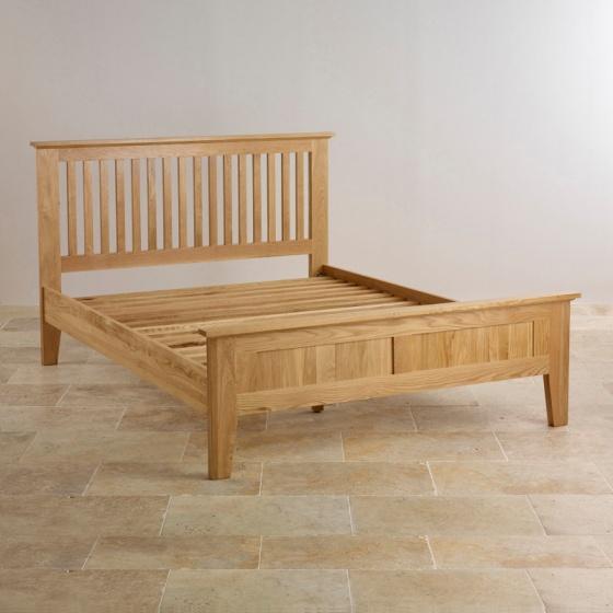 Giường đôi Bevel gỗ sồi 1m6