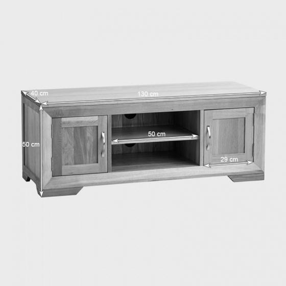 Tủ TV 2 cánh Bevel gỗ sồi - IBIE