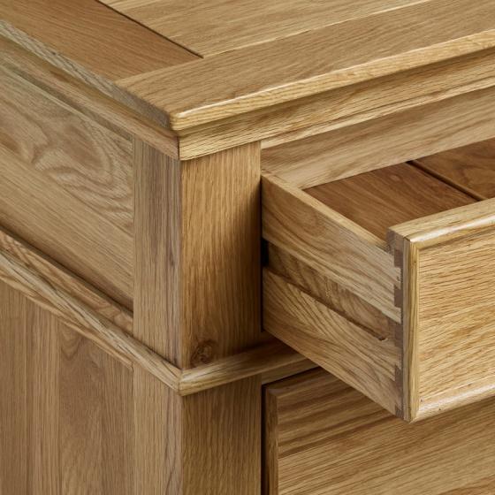 Tủ đầu giường 2 ngăn Classic gỗ sồi - IBIE