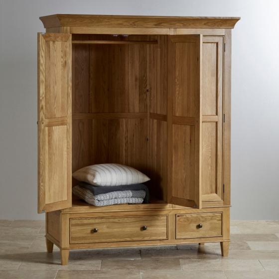 Tủ quần áo 3 cánh Classic gỗ sồi 1m6