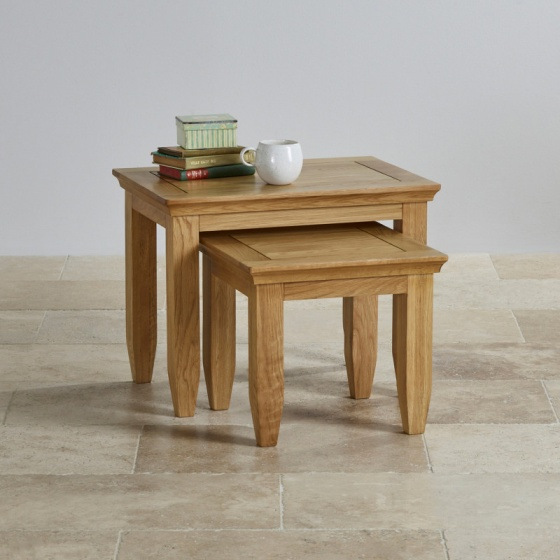 Bộ bàn xếp lồng Classic gỗ sồi - IBIE