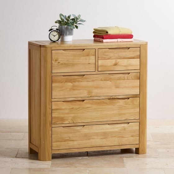 Tủ ngăn kéo Romsey 2+3 gỗ sồi - IBIE